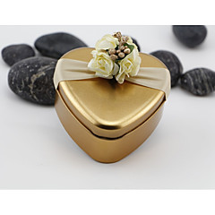 Heart-shaped Iron(nickel plated) Favor Holder With Candy Jars and Bottles Gift Boxes-10