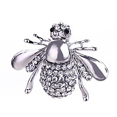 cheap Brooches-Men's Women's Brooches Crystal Rhinestone Classic Fashion Silver Plated Gold Plated Bee Animal Jewelry For Gift Daily