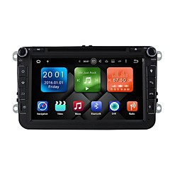 baratos DVD Player para Carros-8 polegadas quad core android 6.0 carro multimídia dvd player built-in wifi&3g ex-tv dab para vw magotan 2007-2011 golf 5/6 caddy polo