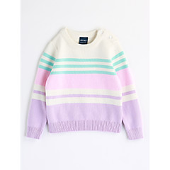 billige Sweaters og cardigans til babyer-Baby Pige Stribet Stribe Langærmet Bomuld Bluse