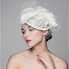 Chapéus de penas de linho Chapéu de cabelo Grampo clássico feminino