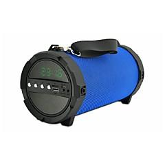jy-48 Bluetooth Aikanäyttö Valot Bluetooth 3.0 3.5mm AUX Subwoofer Musta Tumman sininen Karmiini