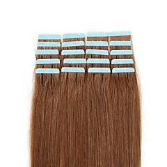 お買い得  人毛エクステンション-シールタイプ 人間の髪の拡張機能 ストレート 女性用 日常