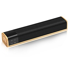 KR-1000 Ministil Bluetooth Bluetooth 4.0 3.5mm AUX Subwoofer Guld Sort