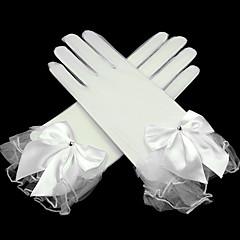 お買い得  パーティー用グローブ-ネット 手首丈 トランスペアレント ブライダル手袋 パーティー/イブニング手袋 ラインストーン リボン ラッフル  -  グローブ