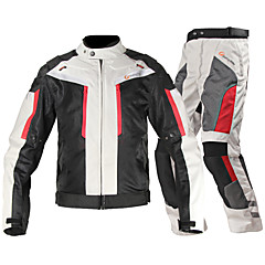 Jacket Pants Set Motorcycle Protective Gear  Men's Adults Nylon Fiber Velcro Easily Adjustable Protective Gear Anti-Wear