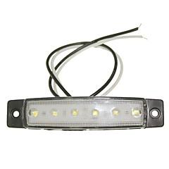 Sencart 12pcs 6led 2835smd branco lâmpada lado do freio marcador carro de motocicleta indicadores dc12v