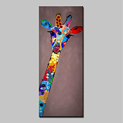 cheap Wall Art-Oil Painting Hand Painted - Animals Abstract Modern Stretched Canvas