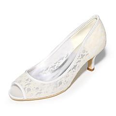 Damă Pantofi Tul Primăvară Vară Balerini Basic pantofi de nunta Toc Stiletto Pantofi vârf deschis Pentru Nuntă Party & Seară Negru