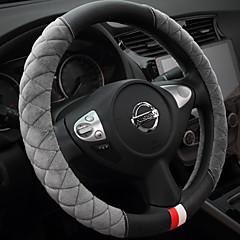 billige Rattovertrekk til bilen-Rattovertrekk til bilen Plysj 38 cm Beige / Grå / Lilla Til Buick Alle år