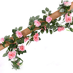 Konstgjorda blommor 1 Gren Bröllop / Pastoral Stil Roser Bordsblomma