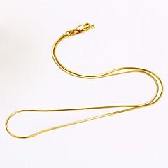Miesten Naisten Kaulaketjut Round Shape Käärme Gold Plated Tee se itse minimalistisesta Korut Käyttötarkoitus Päivittäin Kausaliteetti