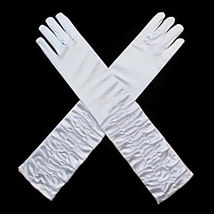 spandex Kumaş Opera Uzunluk Eldiven Klasik Stil Gelin Eldivenleri Parti/Gece Eldivenleri With Pliler