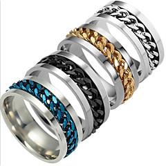 Herre Dame Båndringe Mote Titanium Stål Smykker Smykker Til Daglig