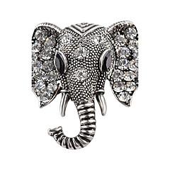 billige Motebrosjer-Nåler - Strass, Sølvplett Elefant, Dyr Personalisert Brosje Gull / Sølv Til Gave / Stadie