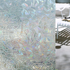 baratos Tratamentos para Janelas-Geométrica Adesivo de Janela, PVC/Vinil Material Decoração de janela Sala de Estar Banheiros Shop / Cafe Cozinha