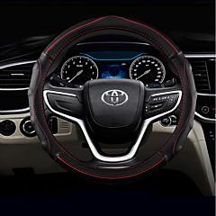 billige Rattovertrekk til bilen-Rattovertrekk til bilen Lær 38 cm Svart / Grønn / Svart / Rød / Blå Svart Til Toyota RAV4 / Highlander / Corolla Alle år