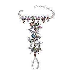 baratos Bijoux de Corps-Esmeralda Sintética Geométrica Tornezeleira - Esmeralda Importante Branco / Preto / Arco-íris Para Festa Cerimônia Mulheres