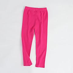 billige Bukser og leggings til piger-Baby Pige Bukser / Helfarve / Basale Ensfarvet Bomuld Bukser / Parfumeret / Koreansk / Sød / Slik