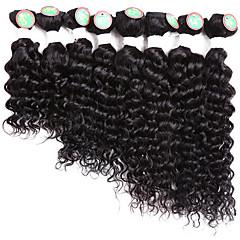 お買い得  人毛つけ毛-8バンドル ブラジリアンヘア クラシック / ウェーブ レミーヘア オンブル' 8-14 インチ ブラック オンブル' 人間の髪織り ホット販売 人間の髪の拡張機能