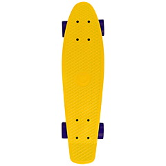 22 Inch Standard Skateboards Outdoor Professional Plastics ABEC-5-Yellow Solid