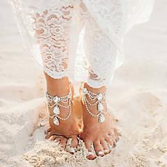 tanie Piercing-Wielowarstwowy Rhinestone - Damskie Gold Silver Łańcuszek na kostkę Na Bikini Wyjściowe