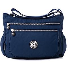 Mulheres Bolsas Poliéster Bolsa Transversal Ziper Azul Escuro / Fúcsia / Roxo Claro