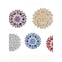 Women's Brooches Classic Elegant Rhinestone Alloy Circle Jewelry For Wedding Party