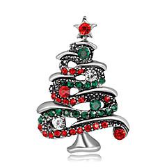 Damen Broschen niedlichen Stil personalisierte Strass Legierung Schmuck für Geschenk Weihnachten
