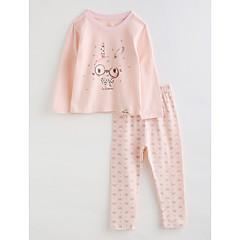 billige Undertøj og sokker til piger-Baby Pige Tegneserie Langærmet Bomuld Nattøj