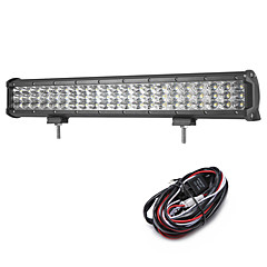 cheap -189W 18900LM 6000K 3-Rows LED Work Light Cool White Combo Offroad Driving Light for Car/Boat/Headlight IP68 9-32V  2m 1-To-1 Wiring Harness Kit