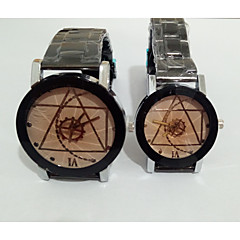 Couple's Fashion Watch Wrist watch Unique Creative Watch Chinese Quartz Stainless Steel Band Vintage Casual Silver