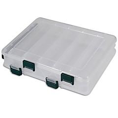 billige Fiskegrejer Kasser-Fiskegrejer Kasser Utstyrskasse Utstyrskasse 2 Brett Plast 19.5 cm*6 1/3 tommer (ca. 16 cm)*4.5 cm