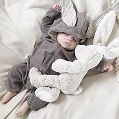 billige Babytøj-Baby Pige Helfarve Langærmet Bomuld Overall og jumpsuit