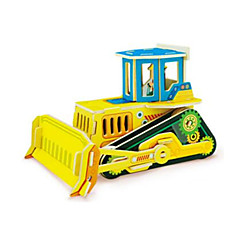 3D Puzzles Dozer Toys Forklift Vehicles Kids 1 Pieces