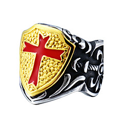 Herre Mote Kors Titanium Stål Kors Formet Smykker Smykker Til Daglig Avslappet