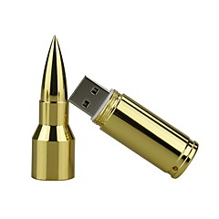 billige -16GB metall bullet usb 2,0 usb flash drive minnepinne pendrive du disk flash drive sølv / gull