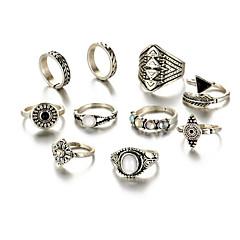 billige Motering-Dame Geometrisk Ring - Turkis Statement En størrelse Gull / Sølv Til Daglig / 10pcs