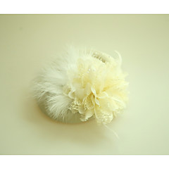 flannelette feather fascinators hats headpieceクラシックな女性的なスタイル