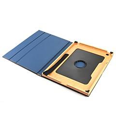 baratos -para capa de caso com flip de pé 360 ° de rotação auto sleep / wake up corpo completo cor sólida hard couro genuíno para Apple ipad ipad