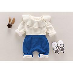 billige Babytøj-Baby Pige Farveblok Øvrigt Overall og jumpsuit Blå