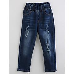billige Jeans til drenge-Børn Drenge Ensfarvet Bomuld Jeans