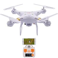 billige Fjernstyrte quadcoptere og multirotorer-RC Drone X51-W 4 Kanaler 6 Akse 2.4G Med HD-kamera 1.0MP 1080P*720P Fjernstyrt quadkopter LED Lys / En Tast For Retur / Feilsikker