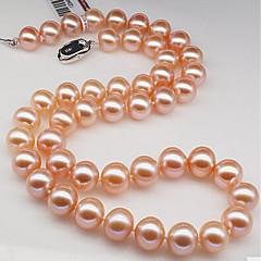 billige Fine smykker-Dame Perle Kort halskæde  -  Hvid Lys pink Halskæder Til Fødselsdag Gave Daglig