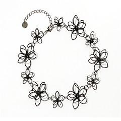 billige Fine smykker-Dame Blomster Kort halskæde  -  Blomster Afslappet Mode Sort Halskæder Til Daglig Stævnemøde