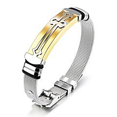 Homens Bracelete Clássico Vintage Titânio Cruz Jóias Para Casamento Festa
