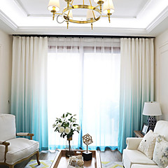 tanie Akcesoria okienne-Zaciemnienie Zasłony zasłony 2*(W183cm×L244cm) Niebieski / Salon