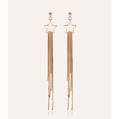 cheap Earrings-Women's Drop Earrings Hoop Earrings Tassel Fashion Alloy Star Jewelry Other Date Costume Jewelry