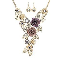 Γυναικεία Κρεμαστά Σκουλαρίκια Κρεμαστά Κολιέ Συνθετικό Diamond Λουλουδάτο Κλασσικό Μοντέρνα Προσομειωμένο διαμάντι Κράμα Για Πάρτι