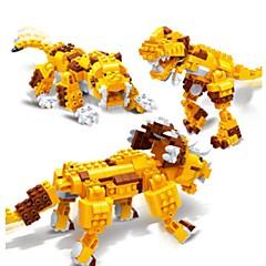 אבני בניין צעצועים טריצרטופים דינוזאור Tiger בעלי חיים 3 ב 1 חינוך 328 חתיכות